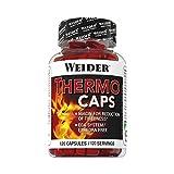 Weider Thermo Caps- 120 Capsulas. Disminuye el apetito. Potente fórmula termogénica con cafeína....