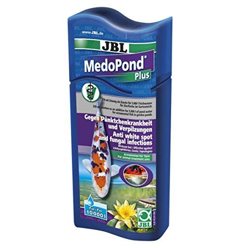 JBL MedoPond Plus 27145 Heilmittel gegen Pünktchenkrankheit und Verpilzung bei Teichfischen, 500 ml