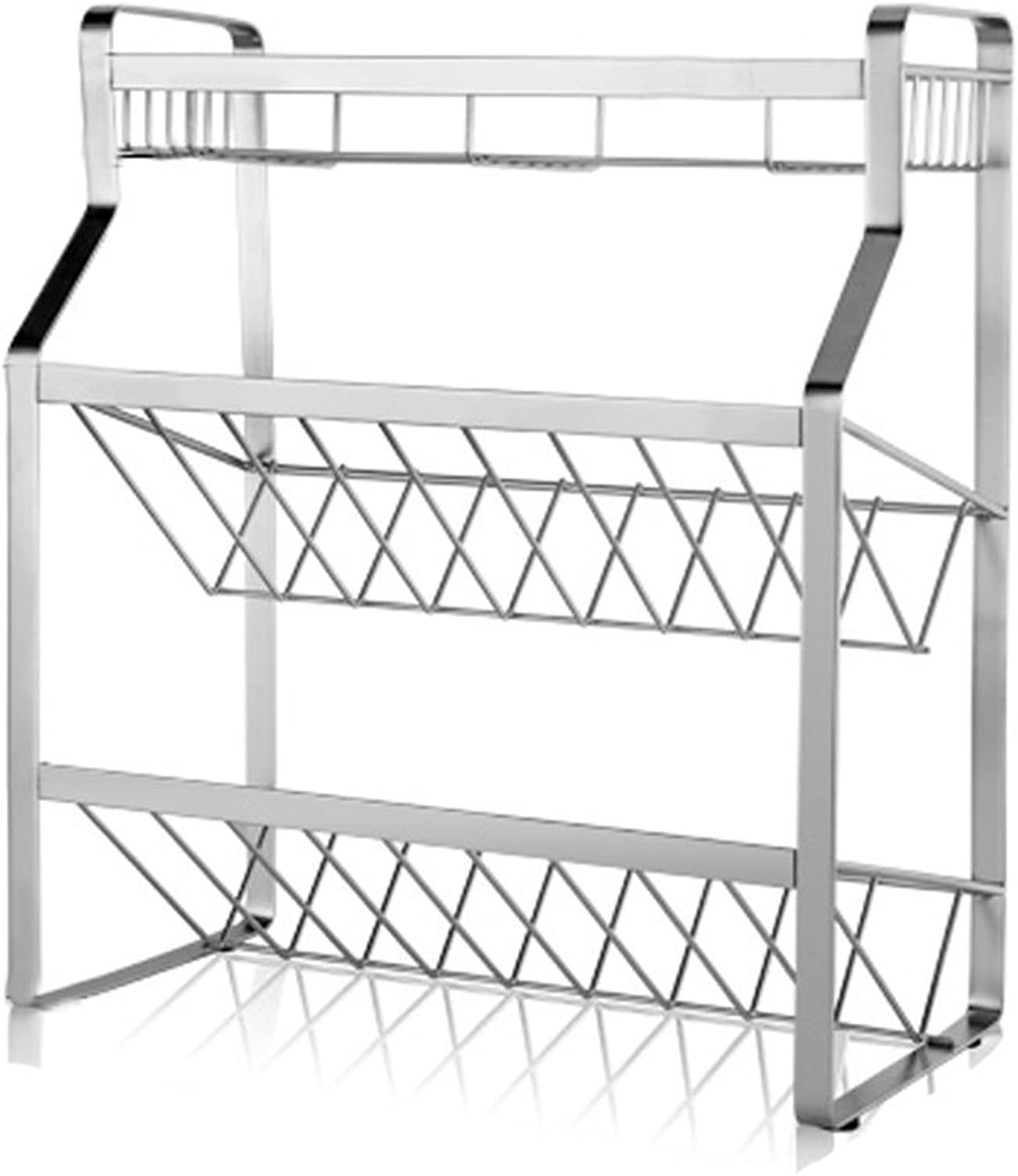 LS Shelf Stainless Steel Kitchen Racks Landing Three Store Oil and Salt Sauce Vinegar Supplies Seasoning Shelf Modern Retro Style Fashion Trend Rack