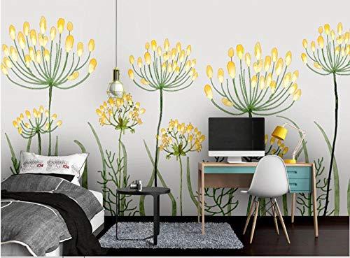 Fototapete 250x175 cm - 5 Streifen Gelbe Blume Vlies Tapete Wandtapeten Wohnzimmer Schlafzimmer Moderne Wandbilder XXL Wand Dekoration Foto-Tapete Wandtapete Fotoposter