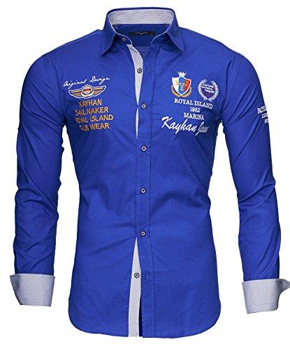 Kayhan Herren Hemd Monaco Blau (M)