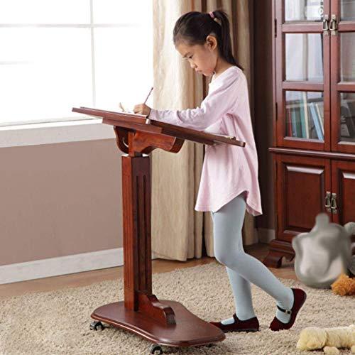 Massivholz Laptoptisch Mobile Lazy Desk Lift Schlafzimmer Studie Kinderarbeitstisch Sofa Beistelltisch Podium