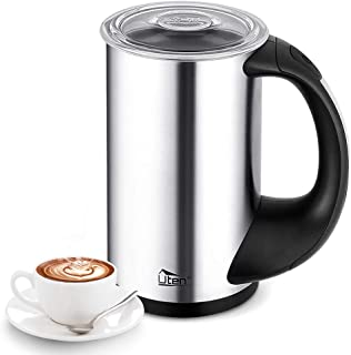 Uten Stainless Steel Electric Milk Frother- Hot & Cold Functionality for Coffee, Cappuccino, Macchiato and Latte
