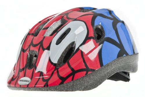 RALEIGH Mystery Spiderman-Fahrradhelm für Jungen, rot/blau, 48–54cm