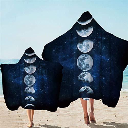 Toalla con capucha Galaxy Adulto Toalla de baño con capucha 3D Paisaje Microfibra Wearable Manta de playa 1/2 unids