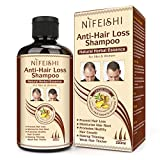 Hair Growth Shampoo, Anti-Hair Loss Shampoo, Natural Old Ginger Hair Care Shampoo Effective Solution...