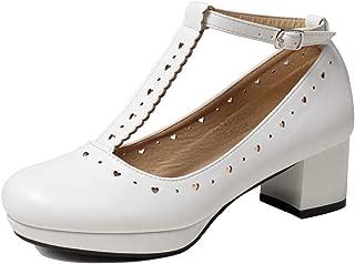 Women's Vintage Shoes Retro Heels T-Straps Block Mary Janes Lolita Shoes