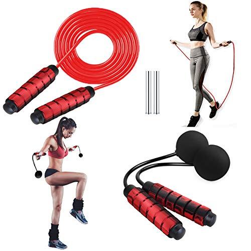 HS-ZGC Cuerda para Saltar comba Crossfit Hombre Mujer comba Boxeo Cuerda de Saltar Cuerda de Salto rápida con Mango de Espuma Suave y Cuerda Ajustable Gratuita para Entrenamientos en el Gimnasio