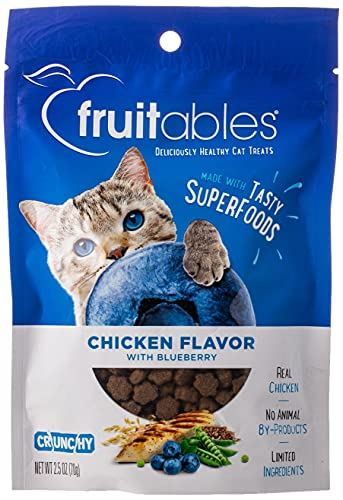 Fruitables Crunchy Cat Treats | Healthy Cat Treats with Limited Ingredients | Low Calorie | 2.5 Ounces