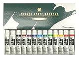 ターナー アクリルガッシュ 13本(12色)スクールセット 11ML