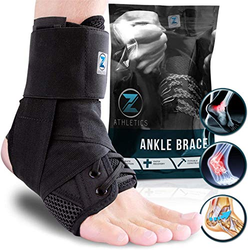 Zenith Ankle Brace, Lace Up Adjustable Support  for Running, Basketball, Injury Recovery, Sprain! Ankle Wrap for Men, Women, and Children