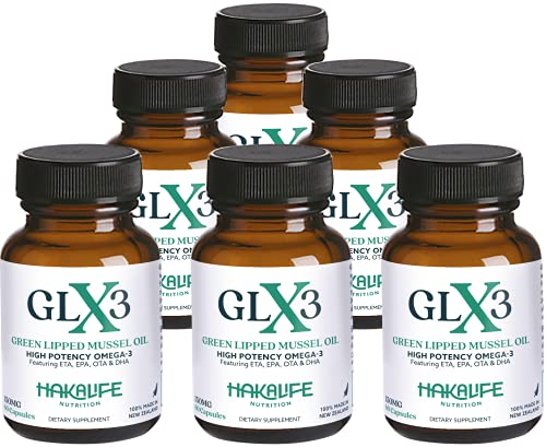 GLX3 6 Pack - Extra Strength Green Lipped Mussel Oil Capsules – Green Mussel New Zealand Oil