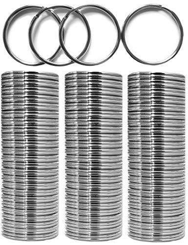 Fuchs Schlüsselringe   16mm - 100 Stück   gehärteter Stahl   Robust   Schutz gegen Rost   Außendurchmesser 16mm   magnetisch   Ring für Schlüssel, Schlüsselanhänger, Auto, Basteln, Schlüsselring Set