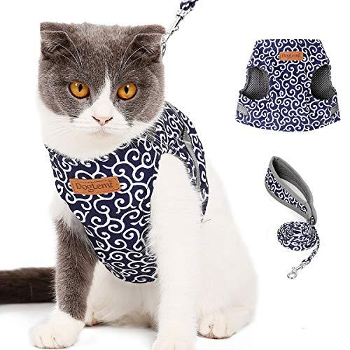ETOPARS Conjunto de Arnés y Correa para Gato, Gato Perro Chaleco Arneses, Chaqueta de Chaleco para Gatos, Chaleco Suave para Cachorros Gatos, Adecuado Caminar Viajes