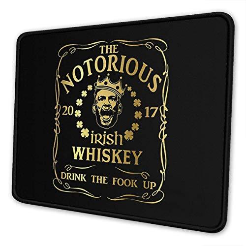 Classical The Notorious Irish Whiskey Mousepad - Mousepad aus rutschfestem Gummi mit 7 x 8,6 Zoll Mousepad-Passepartout