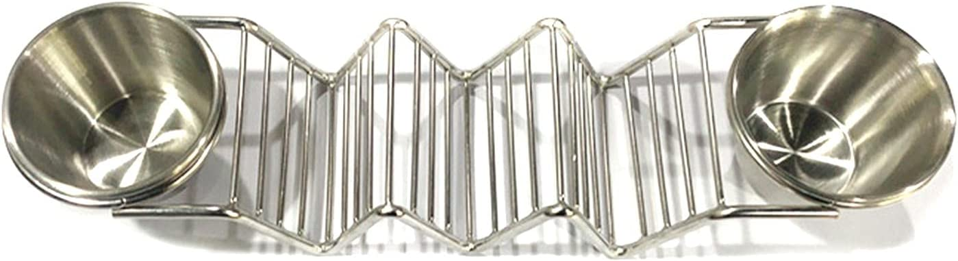 Stainless Steel Taco Shell Rack Cups National uniform free shipping Ta Super beauty product restock quality top With Salad Burrito