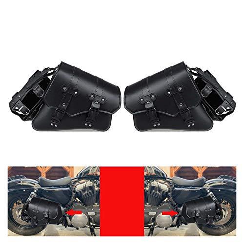 JZWYYF Maletas para Moto Motocicletas universales Saddleags PU Cuero Herramientas Laterales Bolsas de Montar a Prueba de Agua (Color : Pair)