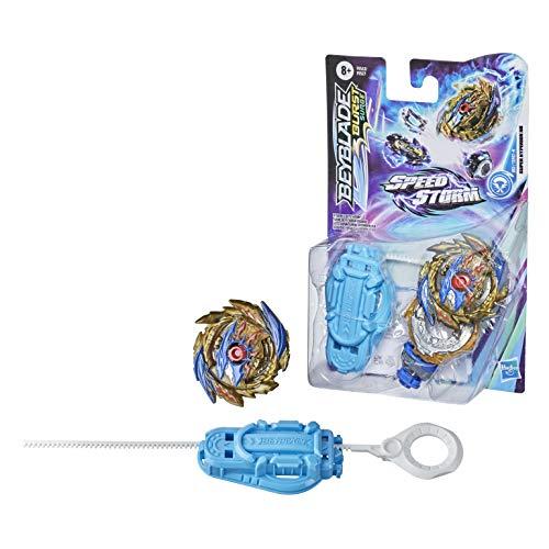 Beyblade Burst Surge Speedstorm - Kit Inicial - Super Hyperion H6 - Top de Batalla Tipo Ataque con Lanzador - Juguete para niños