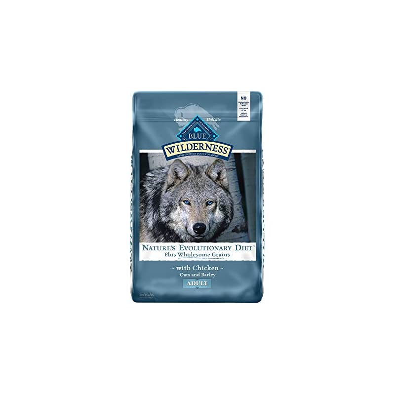 dog supplies online blue buffalo wilderness high protein natural adult dry dog food plus wholesome grains, chicken 24-lb