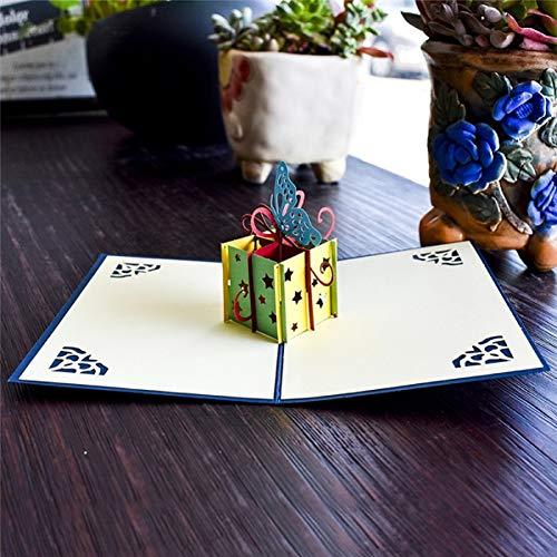 HUDETIE 3D Pop Up Kaarten Verjaardag Graduaties Kaart Vaders Dag Gift Card Souvenirs Levensechte Model Geschenken voor Jongen Papa Kids Vader Box