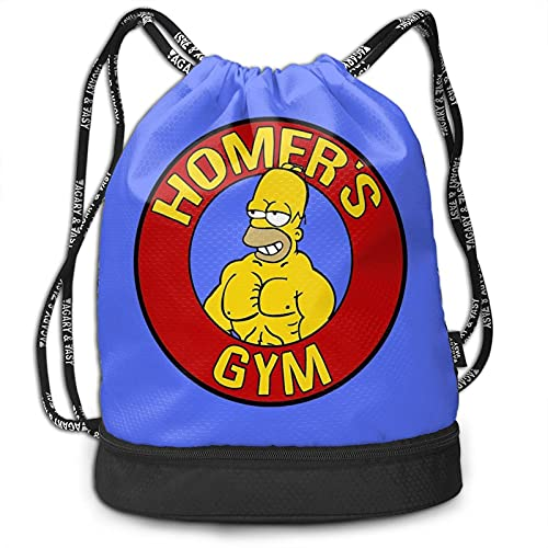 Simpson Homer - Mochila con cordón, portátil, para ocio, deporte, gimnasio, viajes, bolsa de hombro, 35 x 40 cm