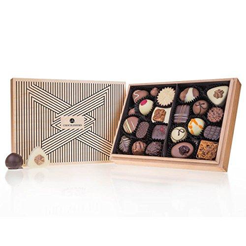 Premiere Midi - Tribar - 20 exclusivos Surtido De Pralinés | bombones Praliné | regalo en caja de madera | sabores | Chocolate | Cumpleaños | Adultos | Mujer | Hombres | Dia de la madre | Dulces