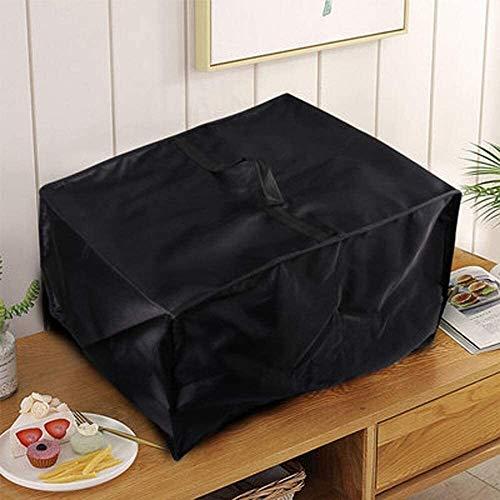 Funda para Muebles Muebles de la cubierta del horno microondas de la capilla del hogar protector contra el polvo anti-envejecimiento a prueba de agua (Negro / 52 * 40 * 31cm) mesa y sillas jardin terr