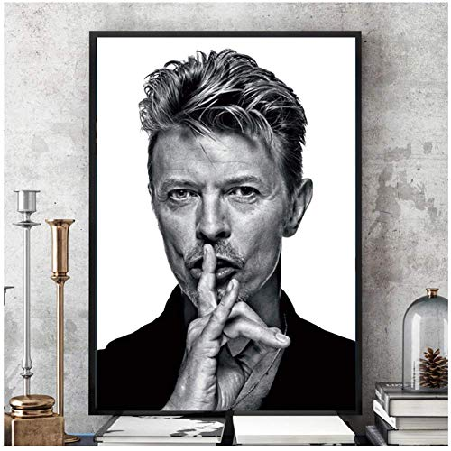 A&D David Bowie Schwarz Weiß Musik Band Sänger SterneMalerei Poster Wandkunst Bild Drucke Leinwand Wohnzimmer Wohnzimmer Decor-50x70cmx1pcs-Kein Rahmen