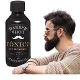 Tratamiento para barba - Bálsamo de crecimiento barba, cabello y bigote - Barber Shot Profesional - Tónico con bergamota 120 ml