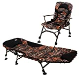 CARP DESIGN Pack Carpe Bed Level Chair Full Camo Line, Matelas épais et Ergonomique,...
