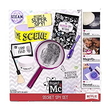 Project MC2 Pretend Play Super Spy Stem Science Kit by Horizon Group Usa Includes Detective Finger Print Identification Set Crime Scene Tape Magnifying Glass Spy Notebook & More