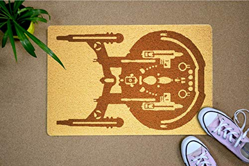 Star Trek Starship - Felpudo para puerta, diseño de nave estelar