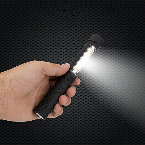 kashyk Lampe de Poche Portable,W/Magnetic LED Lampe Torche Multifonction Compact Rechargeable Lampe,16.6 * 2.3 * 2.3cm LED Lamp Flashlight Torch pour Cyclisme Camping Randonnée