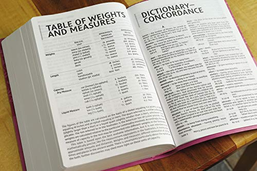 NIV, Super Giant Print Reference Bible, Leathersoft, Pink, Red Letter, Comfort Print