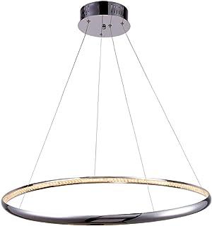 KOSILUM - Suspension LED prestige design D80 cm - Saturne - Lumière Blanc Chaud Eclairage Salon Chambre Cuisine Couloir - ...