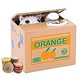 Auped Coin Salvadanaio Salvadanaio Automatico elettronico Gatto Bianco Arancione Savings Bank Regalo significativo per Bambini.