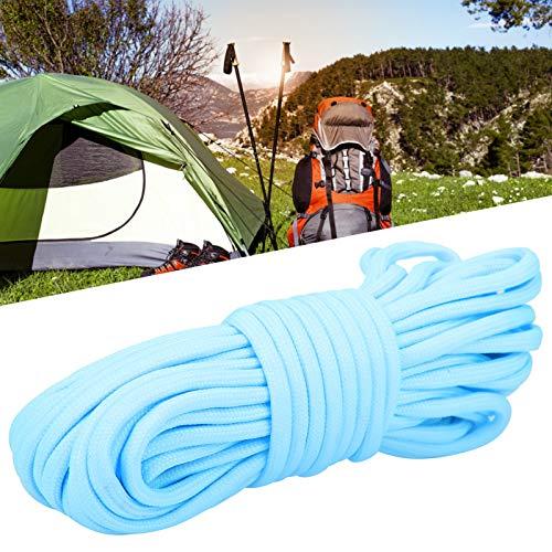 Vcriczk Cuerda Luminosa de Nylon de 308.6lb Paracord, Cuerda Que acampa, para Caminar al Aire Libre(Blue)