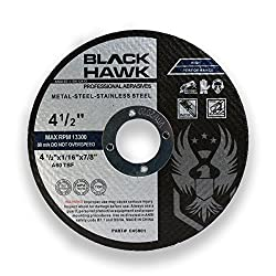 """commercial BHA cutting disc made of metal and stainless steel for angle grinders, 4.5 """"x 1/16"""" x 7/8 """"-25 packs cut off wheels"""