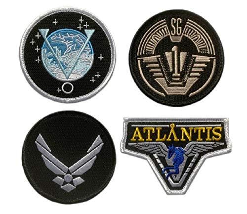Stargate SG-1 Atlantis Uniform/Costume Patch [4pc Set -'Velcro Brand' Fastener]
