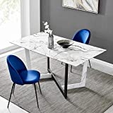 Cherry Tree Furniture Canerra Marble Effect 6-Seater Dining Table