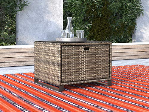 Tommy Hilfiger ODTB10003A Oceanside Outdoor Collection Storage Side Table (Renewed)