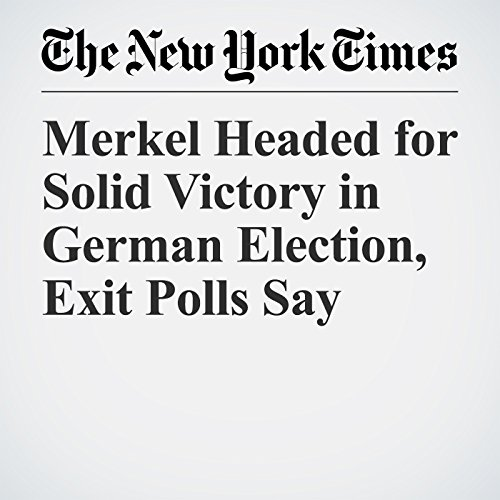 Merkel Headed for Solid Victory in German Election, Exit Polls Say copertina