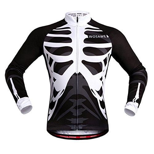 Sunday Atmungsaktive Unisex-Langarm-Radsport-Trikots für Bike, Biker, Fahrrad