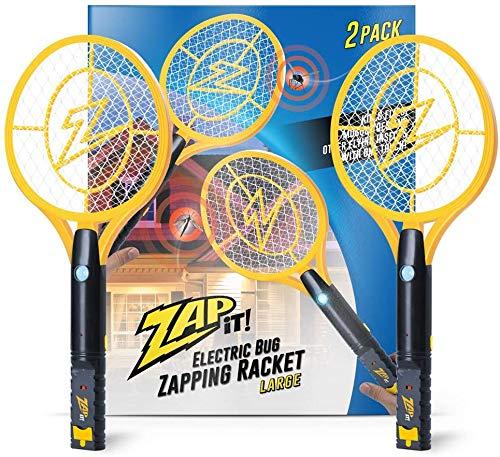 Zap It Bug Zapper Rechargeable Bug Zapper Racket, 4,000 Volt, USB Charging Cable, 2 Pack