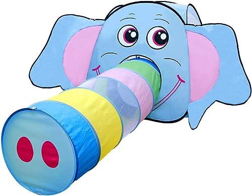 Kinder spielen Zelt Spiel Haus Pulver Grün blau Drei-Farben-Elefant Form junge mädchen Burg einfach zu Lüftung Urlaub Geschenk zu zerlegen(Blau)