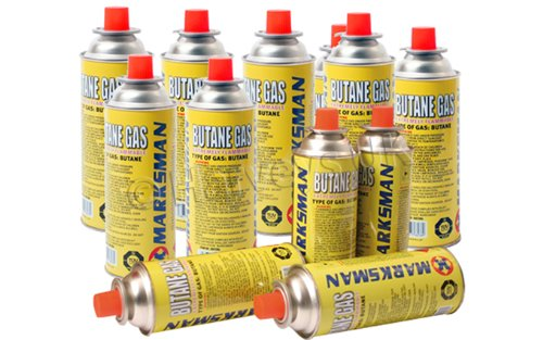 Marksman, 28 BUTANE GAS BOTTLES CANISTERS FOR COOKER HEATER BBQ