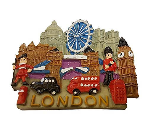 Detalles 3-D London City escena Coleccionable UK Souvenir