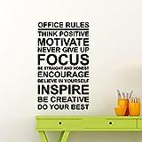 Büro Regeln Poster Wandtattoo Arbeit Motivation Zitat Zeichen denken positive...