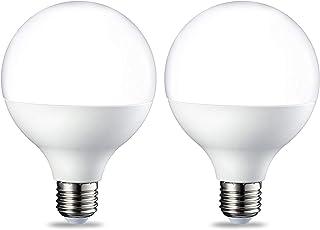 Amazon Basics LED-Birne mit Edisongewinde (E27), G93, 14,5W (entspricht 100W), hell warm, 2er-Pack