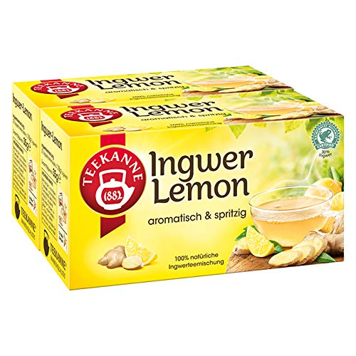 TEEKANNE Ingwer-Lemon (ginger-lemon) / 2x 20 tea bags / fresh + direct german-import by Teekanne GmbH & Co. KG